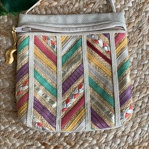 SHARIF  leather patchwork leather purse